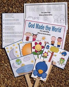 Bible Fun For Kids: God Made the World Song For Preschool....all kinds of good stuff on this blog