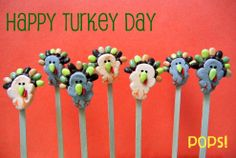 thanksgiving day turkey pops (Not exactly peeps but too cute not to share)