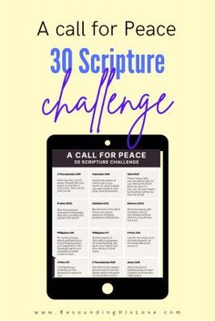 Are you tired of all the fighting and negativity in the world today? Let's start a call for a peace challenge to become unified together by using scriptures for peace. #Unity #Peace #ResoundingHisLove