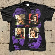 d80dd71fe7 Vtg RARE THE BEATLES Let It Be 90s Shirt!! Double Sided. 🔥 Men's