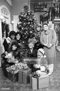 LIFE -- 'Christmas Baby' Episode 13 -- Pictured: Kim Fields as Dorothy 'Tootie' Ramsey, George Clooney as George Burnett, Nancy McKeon as Joanne 'Jo' Polniaczek Bonner, Charlotte Rae as Edna Garrett,...