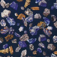 "What's not to love about Hermès's gorgeously coloured ""Les Minéraux"" from a design by Hugo Grygkar and printed on silk?"