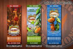 """DINOSAUR TRAIN Invitation - Printable Ticket Invitation for Dinosaur Train Birthday Party (2.5""""x7""""). $7.99, via Etsy."""
