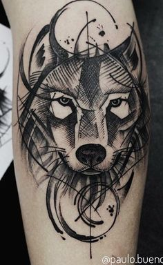 As 230 Melhores Tatuagens de lobo da internet [Femininas e Masculinas] Geometric Wolf Tattoo, Tribal Wolf Tattoo, Wolf Tattoo Sleeve, Arm Tattoo, Body Art Tattoos, Sleeve Tattoos, Cool Tattoos, Clock Tattoo Design, Wolf Tattoo Design