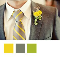 Grey and Yellow One of the first photos I saw when perusing wedding photos- and one of the reasons i picked the grey/yellow combo