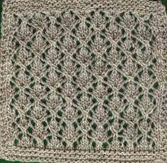 "Square #4 Knit Pattern (9"" x 9"" square)"
