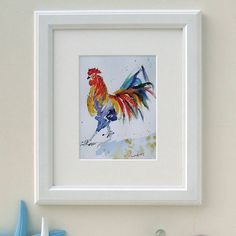 Chicken Print, Hippy Chick by Luna Harrison, the perfect gift for Explore more unique gifts in our curated marketplace. Hippie Chick, Watercolor Print, Unique Gifts, Chicken, Hippy, Frame, Prints, Home Decor, Art