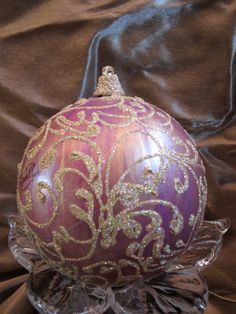 Hand Painted Christmas Ornament by MontanaRosePainter on Etsy, $9.00