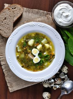зеленый борщ Ukrainian Recipes, Russian Recipes, Ukrainian Food, Healthy Soup, Healthy Recipes, Soup Recipes, Cooking Recipes, Tasty, Yummy Food