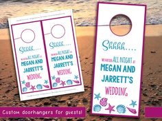 Beach Wedding Response Card  Almond Blossom Coral Pink  Wedding