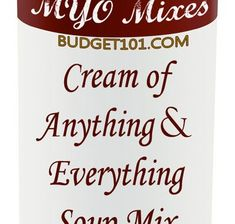 """Homemade Cream of """"Anything"""" Soup Mix in a jar gift idea & convenience mix recipe for everyday Soup Base Recipe, Recipe For Mom, Cream Of Potato Soup, Cream Soup, Supper Recipes, Whole Food Recipes, Cooking Recipes, Homemade Spices, Homemade Seasonings"""