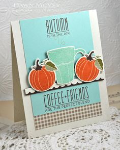 Autumn In The Air Card by Dawn McVey for Papertrey Ink (September 2013)