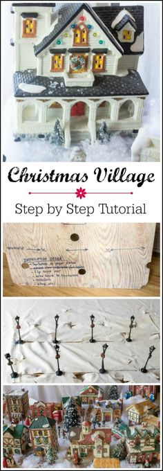 Christmas Village Step by Step Tutorial - or use for tree display in studio at open house
