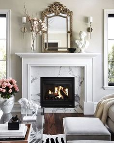 Hamilton Harlow on Instagram: Marble fireplace  Pinterest image