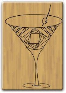 Iris Folding Stamp - Martini Glass