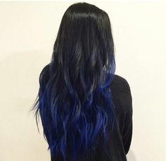Black and blue hair