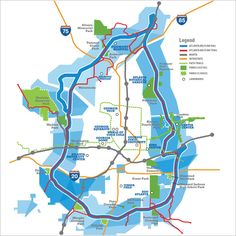 Atlanta BeltLine Map - can we bring something like this to Columbus?
