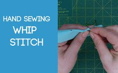 Whip Stitch Sewing Stitches, Fabric Scraps, Hand Sewing, Sewing Ideas, Sewing By Hand, Stitches, Fabric Remnants, Sewing Coat, Hand Stitching