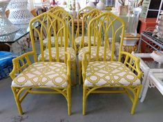 6 RATTAN Chairs for the Dining Room :)