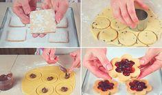 Facciamo i Biscotti di Pasta Frolla Senza Burro, con lo stesso impasto realizziamo 4 idee semplici e veloci, con nutella, marmellata, zucchero a velo