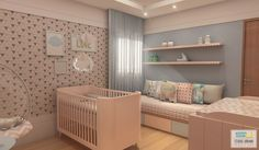 Quarto de bebê vista 01 - Escritório de arquitetura Studio Urbano; Campina Grande-PB