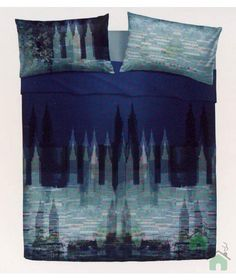 Queste lenzuola in puro cotone ricordano il mare calmo e azzurro ...