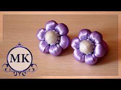 Резинки для волос. Канзаши. МК. / DIY. Hair bands . Kanzashi. Flowers. - YouTube