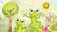 Spring Frogs - Frogs Wallpaper ID 1698318 - Desktop Nexus Animals