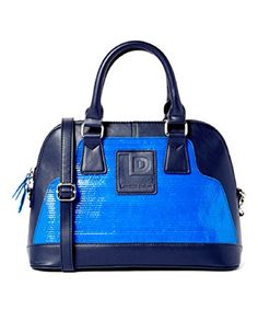 Landfill Dzine Recycled Structured Satchel Bag Blue Handbag -- Check out the image by visiting the link.