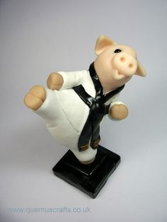 Taekwondo Pig by QuernusCrafts, via Flickr