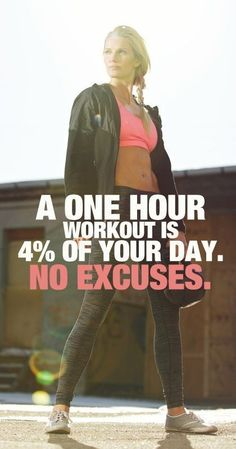 No excuses! Fitness motivation, running motivation, fitness quotes.