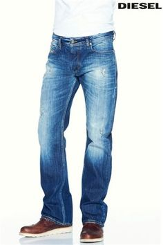 Buy Diesel® Mid Blue New Fanke Boot Cut Jeans from the Next UK online shop