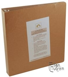 Inchie Binder $9.49 A 1' ring binder with removable back for decoration or replacement.