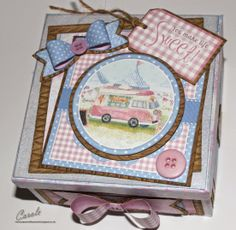 Halcyon Days CD-ROM from Crafter's Companion, Sweet Box using Card Companion by Carole Davis Cd Crafts, Paper Crafts, Crafters Companion Cards, Sweet Box, Halcyon Days, Making Greeting Cards, Create And Craft, Scrapbook Layouts, Scrapbooking