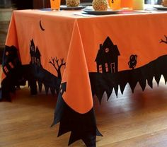 Great patchwork idea for a Halloween party