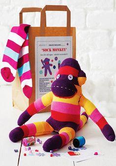 2013 Christmas Craft Kits Idea, Sock Monkey Christmas Craft Kit for 2013 Christmas  #Christmas #Craft #Kits #Idea  www.loveitsomuch.com