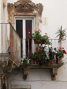 Balcone salentino.