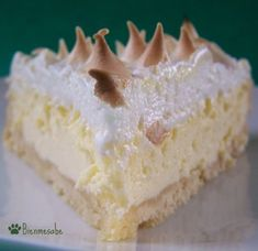 """BIEN ME SABE: This dessert which literally can be translated to """"it tastes good to me""""  has been well known in Venezuela since the colonial times. It is a sponge cake bathed in liquor and layered with coconut cream filling and topped with meringue."""