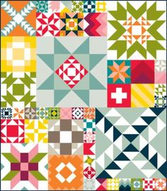 Modern Building Blocks Project Patchwork Quilting pattern - Bella Solids