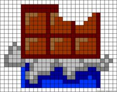 Candy bar chocolate perler bead pattern