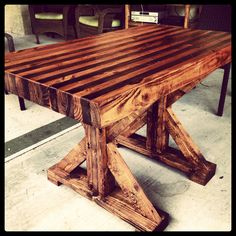 Butcher block table I made.