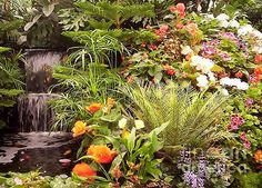 Photograph of garden waterfall. Artwork by Sharon Patterson may be PURCHASED at: http://1-sharon-patterson.fineartamerica.com AND http://canstockphoto.com/stock-image-portfolio/SharonPatterson AND http://www.bigstockphoto.com/search/?contributor=Sharon%20Patterson&safesearch=n