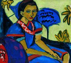 Ernst Ludwig Kirchner, Fränzi on ArtStack Ernst Ludwig Kirchner, Michelangelo, George Grosz, Figurative Kunst, Degenerate Art, Emil Nolde, Expressionist Artists, Wassily Kandinsky, Illustrations