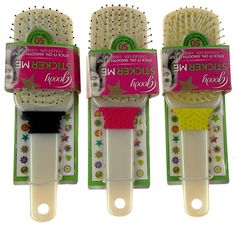 Lot 3 Goody Sticker Me Hairbrush Design Your Own Brush White Decorate Kids Craft