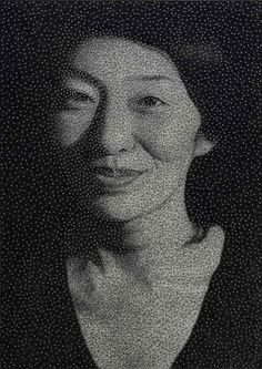 Les incroyables portraits de Kumi Yamashita constitués de clous et de fils
