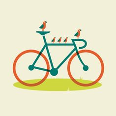 birds on a bike