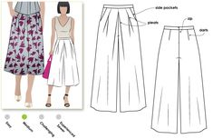 Pattern Review: StyleArc Erin Culottes | Gorgeous Fabrics' Blog