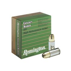 Remington Golden Saber 380 ACP AUTO Ammo 102 Grain Brass Jacketed Hollow Point  View All From Remington Ammunition
