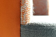 Up Close & Personal: Rosemary Hallgarten's Oatmeal / Mandarin Double Weave Boucle Foam fabric AVAILABLE THROUGH ALT FOR LIVING