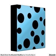 Black Dots On Blended SkyBlue 3 Ring Binders